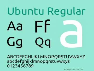 Ubuntu 0.83 Font Sample