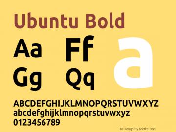 Ubuntu Bold Version 0.83;December 31, 2017;FontCreator 11.0.0.2408 32-bit Font Sample