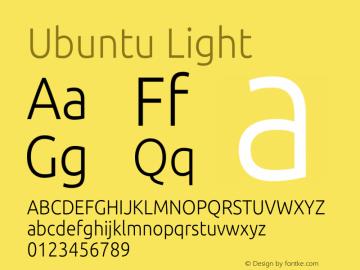 Ubuntu Light 0.83 Font Sample