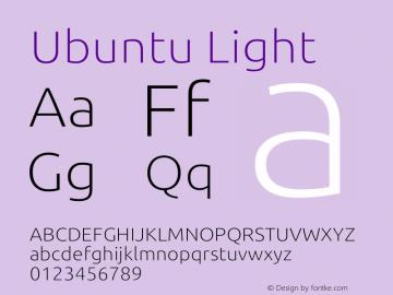 Ubuntu Thin 0.83 Font Sample