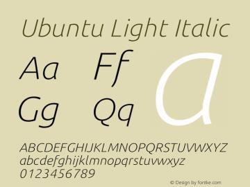Ubuntu Thin Italic 0.83 Font Sample