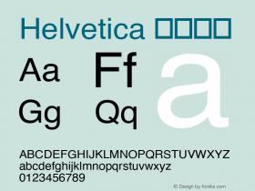Helvetica 细伪斜体 图片样张