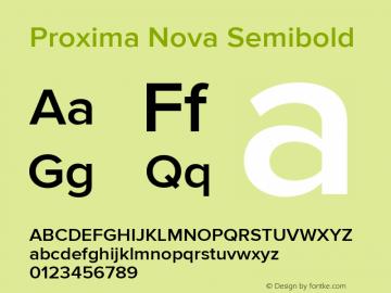 . Version 2.008; Proxima Nova Semibold图片样张