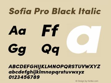 Sofia Pro Black Italic Version 2.000图片样张