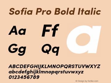 Sofia Pro Bold Italic Version 2.000图片样张
