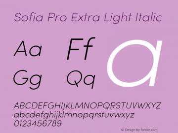 Sofia Pro ExtraLight Italic Version 2.000图片样张