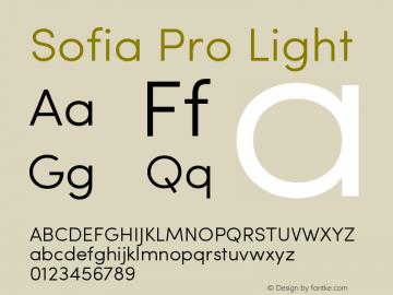 Sofia Pro Light Version 2.000图片样张