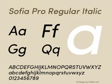 Sofia Pro Regular Italic Version 2.000图片样张