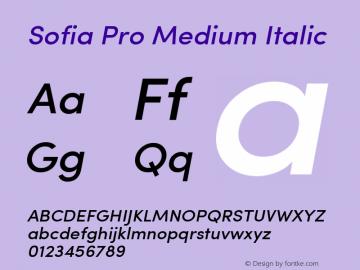 Sofia Pro Medium Italic Version 2.000图片样张