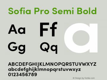 Sofia Pro Semi Bold Version 2.000图片样张