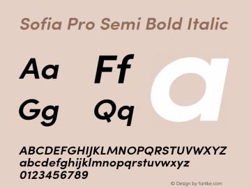 Sofia Pro Semi Bold Italic Version 2.000图片样张