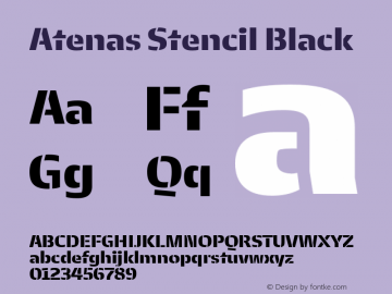 Atenas Stencil Black Version 2.500;hotconv 1.0.109;makeotfexe 2.5.65596图片样张