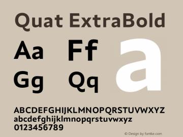 Quat ExtraBold Version 1.000;hotconv 1.0.109;makeotfexe 2.5.65596图片样张