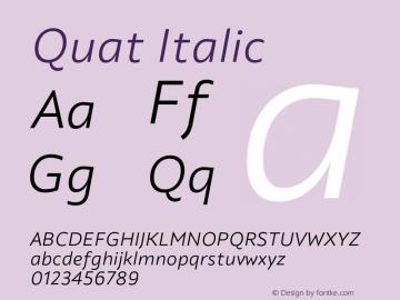 Quat Italic Version 1.000;hotconv 1.0.109;makeotfexe 2.5.65596图片样张