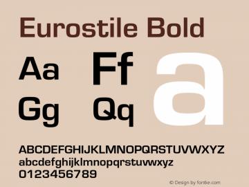 Eurostile-Bol Version 1.000;PS 1.00;hotconv 1.0.57;makeotf.lib2.0.21895图片样张