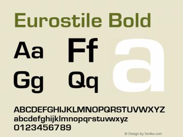Eurostile Bold Version 1.00图片样张