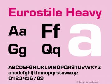 Eurostile-Hea Version 1.000;PS 1.00;hotconv 1.0.57;makeotf.lib2.0.21895图片样张