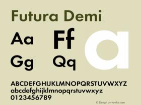 Futura-Dem Version 1.000;PS 1.00;hotconv 1.0.57;makeotf.lib2.0.21895图片样张