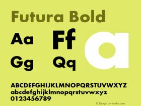 Futura Bold Version 1.00图片样张