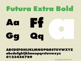 Futura-ExtBol Version 1.000;PS 1.00;hotconv 1.0.57;makeotf.lib2.0.21895图片样张