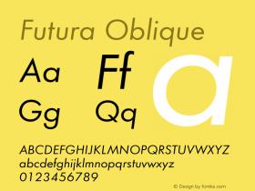 Futura Oblique Version 1.00图片样张