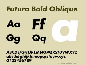 Futura Bold Oblique Version 1.00图片样张