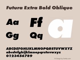 Futura-ExtBolObl Version 1.000;PS 1.00;hotconv 1.0.57;makeotf.lib2.0.21895图片样张