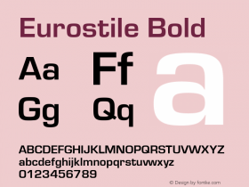 Eurostile Bold Version 1.00图片样张