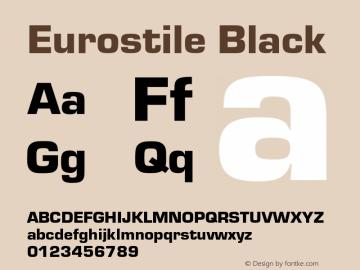 Eurostile-Bla Version 1.000;PS 1.00;hotconv 1.0.57;makeotf.lib2.0.21895图片样张