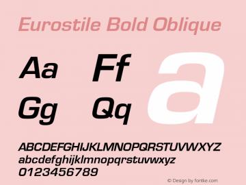 Eurostile Bold Oblique Version 1.00图片样张