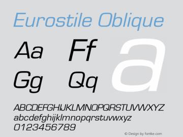 Eurostile Oblique Version 1.00图片样张