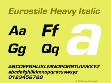Eurostile-HeaIta Version 1.000;PS 1.00;hotconv 1.0.57;makeotf.lib2.0.21895图片样张