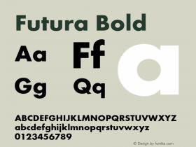 Futura-Bol Version 1.000;PS 1.00;hotconv 1.0.57;makeotf.lib2.0.21895图片样张