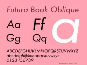 Futura-BooObl Version 1.000;PS 1.00;hotconv 1.0.57;makeotf.lib2.0.21895图片样张
