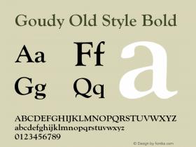 GoudyOldSty-Bol Version 1.000;PS 1.00;hotconv 1.0.57;makeotf.lib2.0.21895图片样张