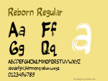 Reborn Version 1.00;July 26, 2019;FontCreator 11.5.0.2427 64-bit图片样张