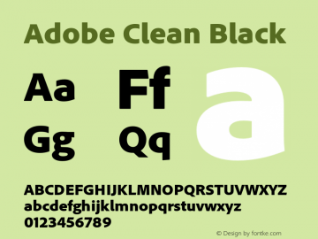 AdobeClean-Black Version 5.215;PS 2.000;hotconv 1.0.73;makeotf.lib2.5.5900图片样张