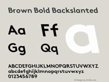 Brown-BoldBackslanted 001.000图片样张