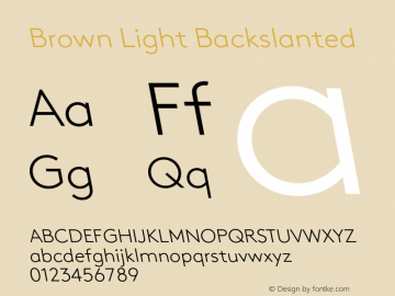 Brown-LightBackslanted 001.000图片样张