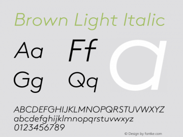 Brown-LightItalic 1.000图片样张