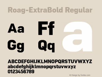 Roag W05 ExtraBold Version 1.00图片样张