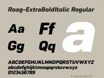 Roag W05 ExtraBold Italic Version 1.00图片样张