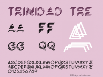 Trinidad-Tre Version 1.000;PS 001.000;hotconv 1.0.88;makeotf.lib2.5.64775图片样张