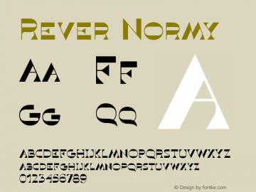 Rever Normy Version 1.000图片样张