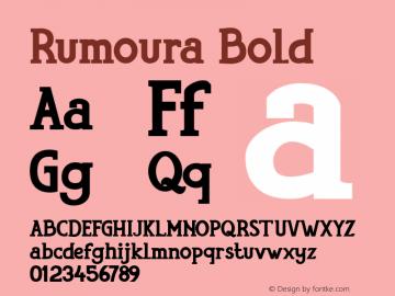 Rumoura Bold Version 1.000图片样张