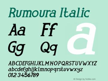 Rumoura  Italic Version 1.000图片样张