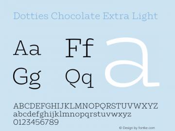 Dotties Chocolate Extra Light Version 1.000;Dotties Chocolate图片样张