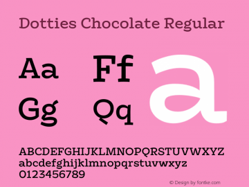 Dotties Chocolate Regular Version 1.000;Dotties Chocolate图片样张