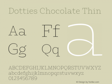 Dotties Chocolate Thin Version 1.000;Dotties Chocolate图片样张