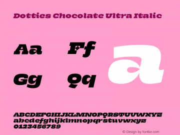 Dotties Chocolate Ultra Italic Version 1.000;Dotties Chocolate图片样张
